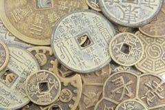 kinesiska mynt Arkivbild