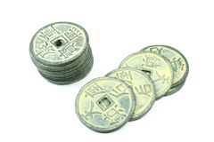 kinesiska mynt Arkivbilder