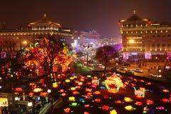 2019 kinesiska nya år i Xian royaltyfria bilder
