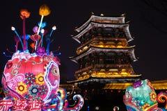 2019 kinesiska nya år i Xian arkivfoton