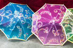 Kinesiska paraplyer Arkivfoton