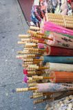 Kinesiska paraplyer Royaltyfri Fotografi