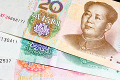 Kinesiska pengar royaltyfri bild