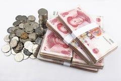 Kinesiska pengar (RMB) Fotografering för Bildbyråer