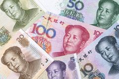 Kinesiska pengar - yuan Arkivfoton
