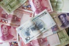 kinesiska pengar yuan Fotografering för Bildbyråer