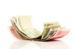 Kinesiska pengarpappersräkningar Arkivfoto