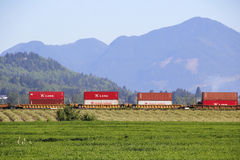 Kinesiska produkter som transporteras över Nordamerika Royaltyfria Foton