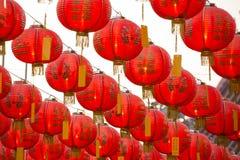 Kinesiska röda pappers- lyktor för nytt år arkivfoton