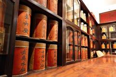 kinesiska retro shoppar tea Arkivfoton