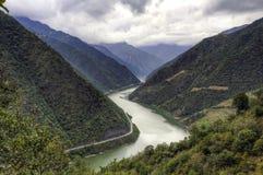 Kinesiska River Valley fotografering för bildbyråer