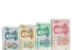 Kinesiska sedlar Fotografering för Bildbyråer