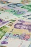 Kinesiska sedlar, kinesiska pengar, kinesiska dollar för backgro Royaltyfri Foto