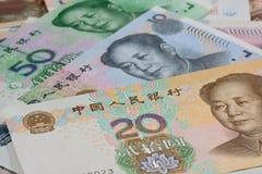 Kinesiska sedlar, kinesiska pengar, kinesiska dollar för backgro Royaltyfria Foton