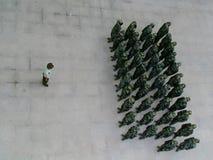 kinesiska soldater Arkivbild