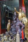 Kinesiska souvenir i stor loppmarknad i Peking Royaltyfria Bilder