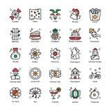 Kinesiska symboler för berömmar för nytt år plana packar royaltyfri illustrationer