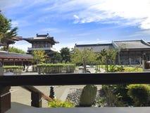 Kinesiska tempel, kinesisk trädgård fotografering för bildbyråer