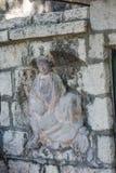 Kinesiska tempel sniden sten Royaltyfri Foto