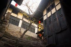 Kinesiska träbyggnader royaltyfria foton