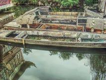 Kinesiska träfartyg Royaltyfri Bild
