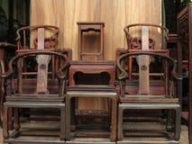 Kinesiska traditionella antika Furnitures Arkivfoton