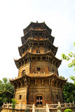Kinesiska traditionella buddistiska tempel, Kaiyuan tempel Royaltyfri Foto