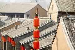 Kinesiska traditionella hus Arkivfoto
