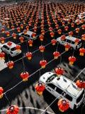 Kinesiska vägar i Yangon fotografering för bildbyråer