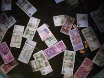 kinesiska valutaanmärkningar Arkivfoto