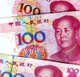Kinesiska valutasedlar arkivbild