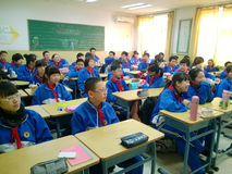 Kinesiska yngre studenter Arkivbilder