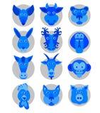 Kinesiska zodiakdjursymboler Royaltyfria Foton