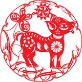 Kinesiskt år av hundillustrationen Arkivfoto
