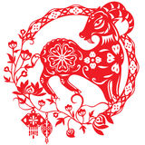 Kinesiskt år av Lucky Sheep Lamb royaltyfri illustrationer