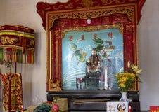 Kinesiskt altare, Cantonese aula i Hoi An arkivfoto