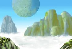 Kinesiskt berg arkivbilder