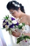 kinesiskt bröllop för brud fotografering för bildbyråer