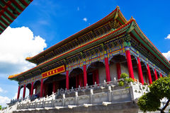 Kinesiskt buddistiskt tempel i Bangkok Fotografering för Bildbyråer