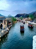 kinesiskt byvatten arkivfoto