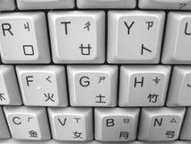 kinesiskt datorengelskatangentbord Royaltyfri Fotografi