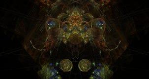 Kinesiskt drakehuvud för kosmisk symmetri royaltyfri illustrationer
