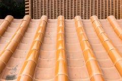 Kinesiskt eller japanskt tak Arkivbild