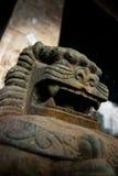 Kinesiskt förmyndarelejon, Fu hund, Fu lejon, Bangkok Arkivfoton