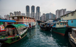kinesiskt fiskeläge Fotografering för Bildbyråer