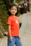 kinesiskt flickaleende Royaltyfri Foto