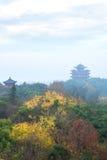Kinesiskt forntida byggnadstorn royaltyfria bilder