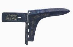 Kinesiskt forntida vapen, dolk-yxa Fotografering för Bildbyråer
