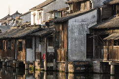 Kinesiskt gammalt hus Fotografering för Bildbyråer