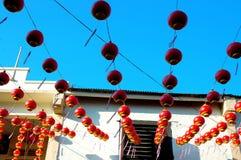 kinesiskt garneringfestivalhus Arkivfoton